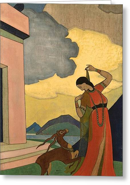 Song Of The Morning Greeting Card by Nicholas Roerich