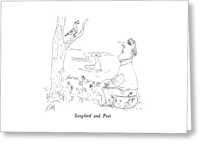 Songbird And Poet Greeting Card