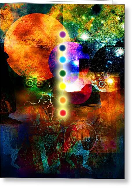 Sonic Ascension Greeting Card by Bruce Manaka