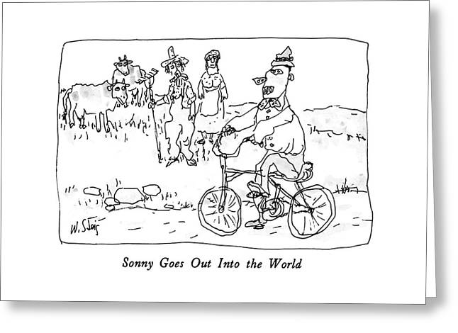 Sonny Goes Out Into The World Greeting Card