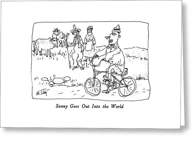 Sonny Goes Out Into The World Greeting Card by William Steig