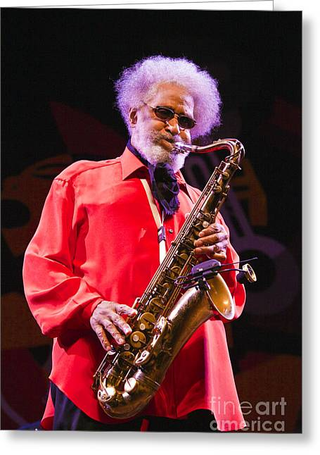Sonny Rollins In Red Shirt Greeting Card