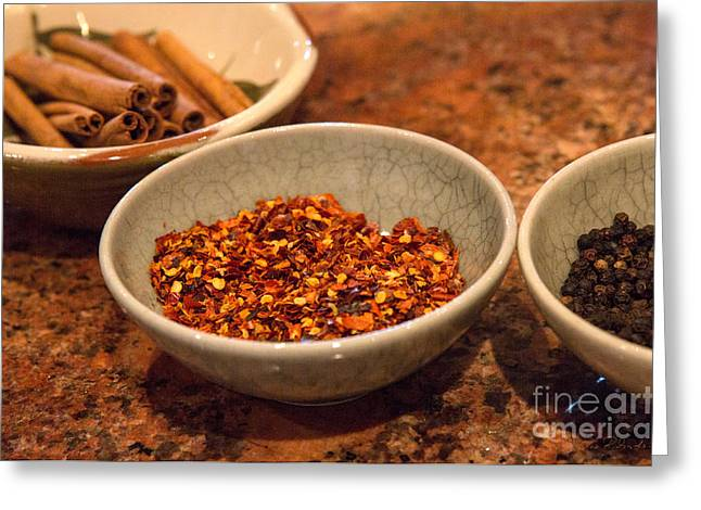 Sonoma California Pickling Spices Greeting Card by Iris Richardson