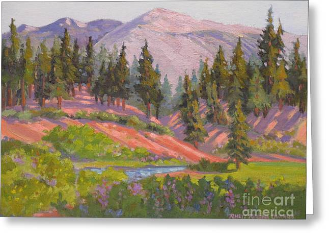 Sonora Pass Meadow Greeting Card by Rhett Regina Owings