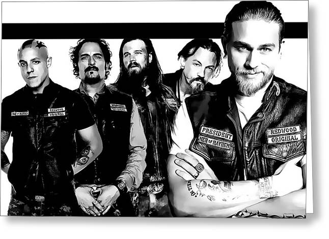 Sons Of Anarchy Greeting Card by Anibal Diaz
