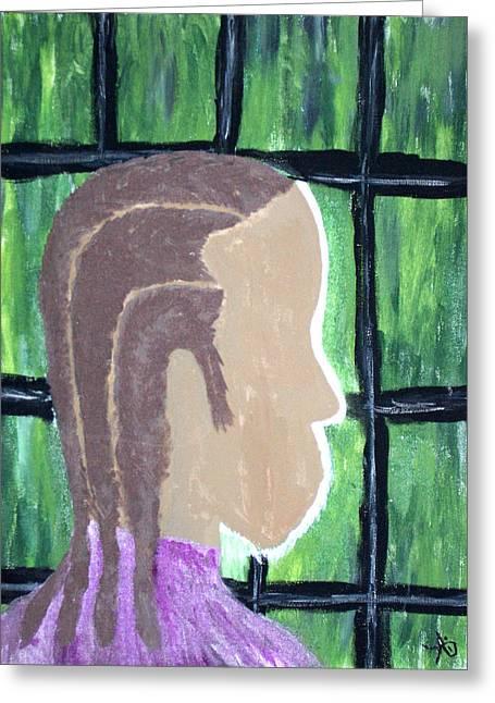 Abstract Man Art Painting  Greeting Card
