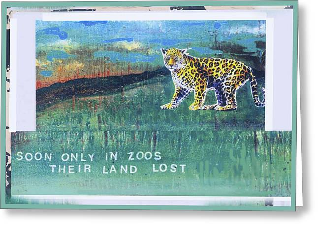 Soon Only In Zoos  Their Land Lost Greeting Card by Mary Ann  Leitch