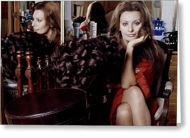 Sophia Loren Greeting Card by Henry Clarke