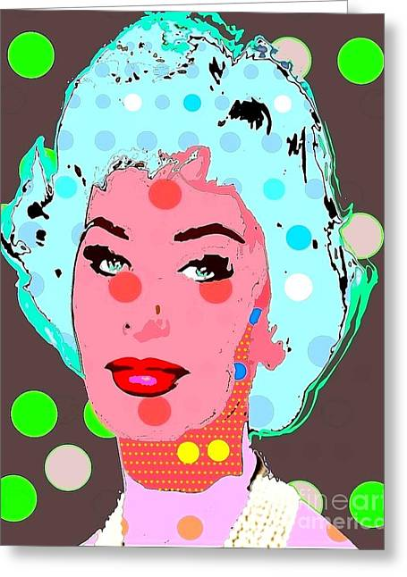 Sophia Loren Greeting Card by Ricky Sencion