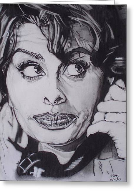 Sophia Loren Telephones Greeting Card