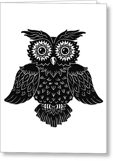 Sophisticated Owls 1 Of 4 Greeting Card by Kyle Wood