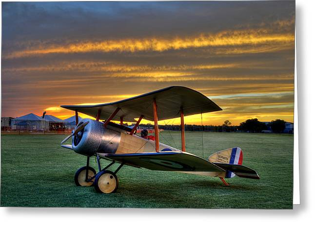 Sopwith Sunset Greeting Card