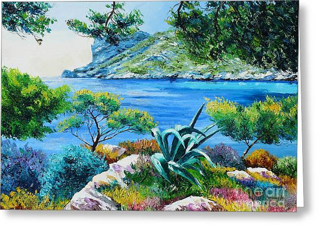 Sormiou's Cave Greeting Card