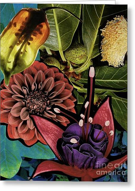Sorrellism Collage 1 Greeting Card by Susan Sorrell