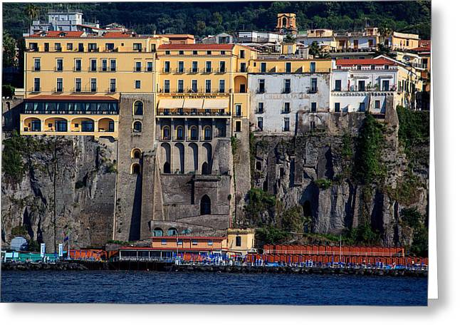 Greeting Card featuring the photograph Sorrento Coast Line by Uri Baruch
