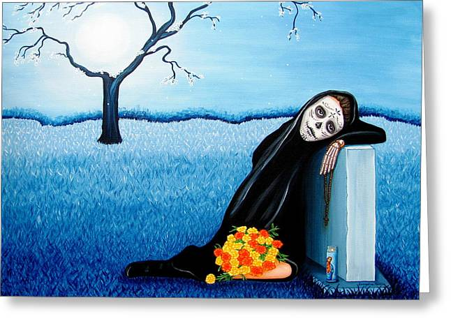 Sorrow And Hope Greeting Card by Evangelina Portillo