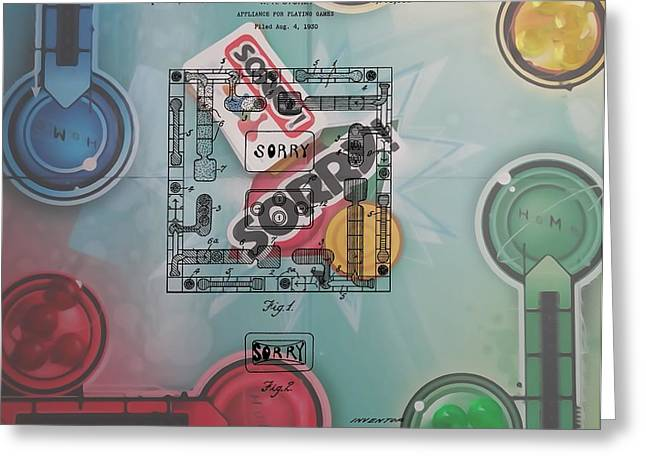 Sorry Game Patent Greeting Card by Dan Sproul