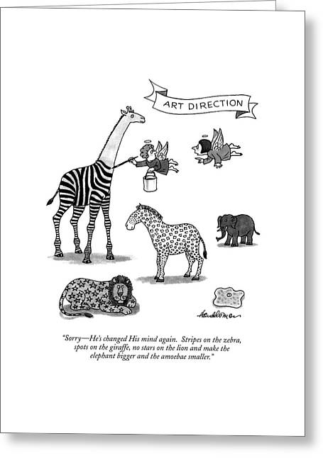 Sorry - He's Changed His Mind Again.  Stripes Greeting Card by J.B. Handelsman