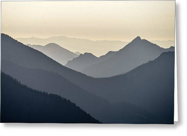 Sostice In The Olympic Mountains Greeting Card by Ronda Broatch