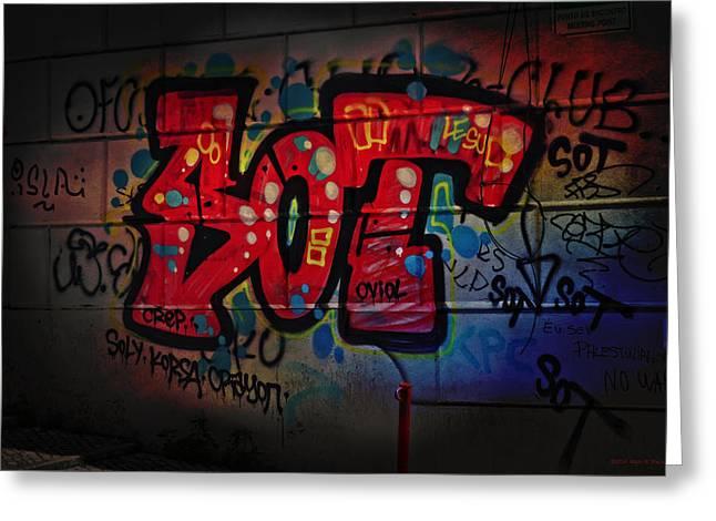Sot Graffiti - Lisbon Greeting Card by Mary Machare