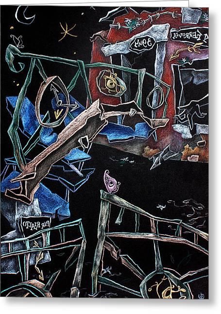 Sott'acqua - Surrealism Art Fantasy Illustration Greeting Card by Arte Venezia