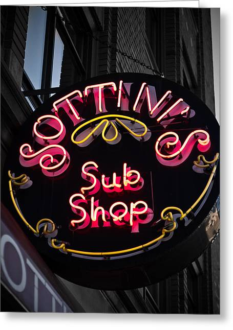 Greeting Card featuring the photograph Sottini's Sub Shop by James Howe