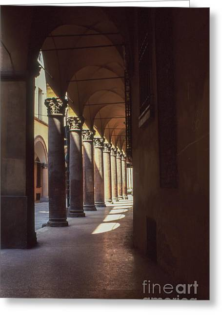 Sotto I Portici Greeting Card by Carol Weitz