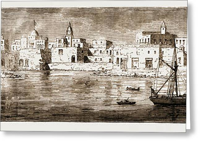 Souakin, On The Red Sea, The Landing-place Of The Sudan Greeting Card