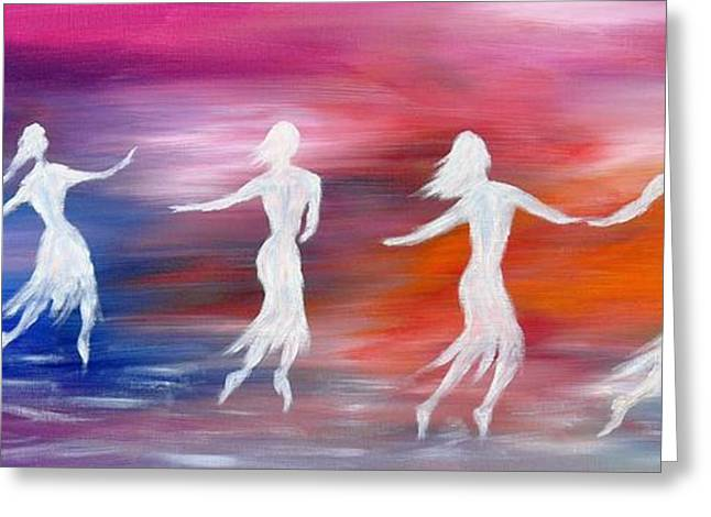 Soul Dance  Greeting Card by Marianna Mills