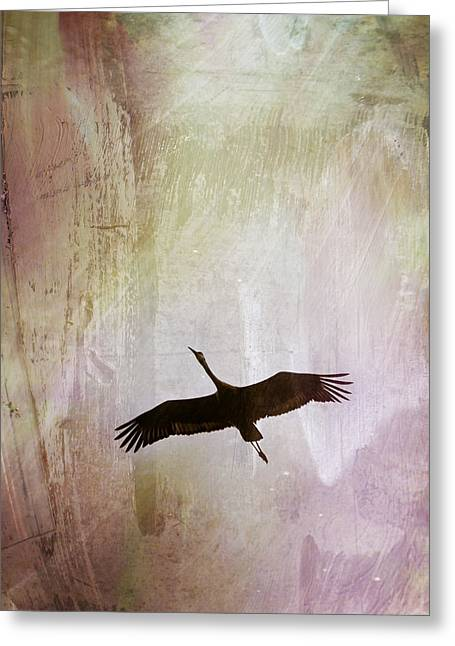 Soul Flying Greeting Card by Melissa Smith