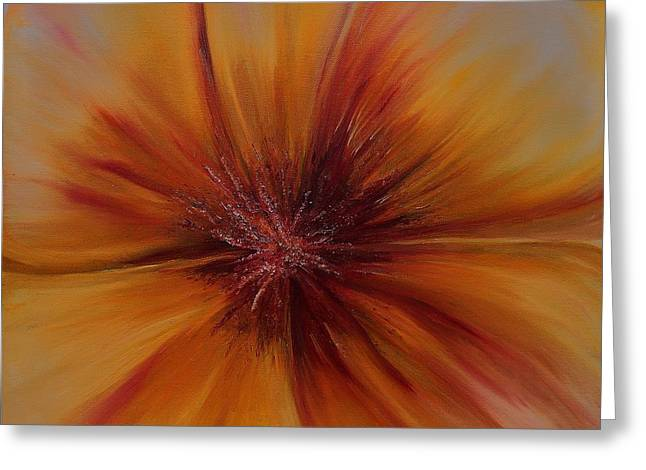 Soul Of A Flower Greeting Card by Mary DeLawder