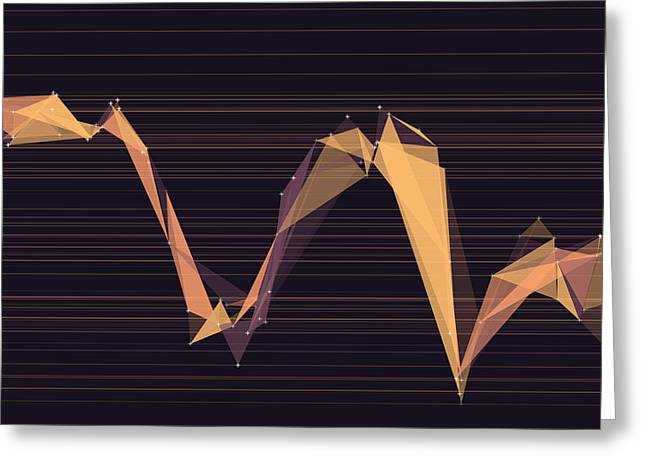 Soul Polygon Triangle Graph Greeting Card by Frank Ramspott