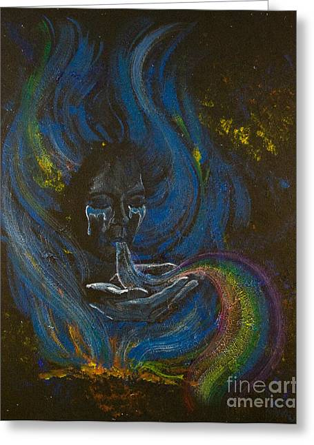 Soul Song Greeting Card by Colleen Koziara