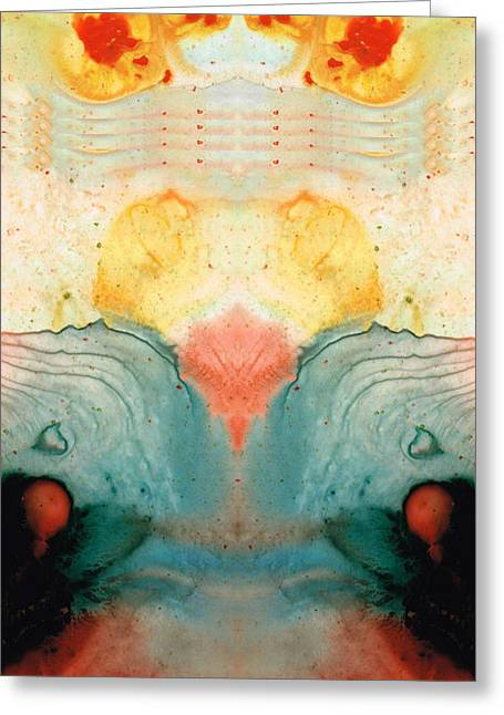Soul Star - Abstract Art By Sharon Cummings Greeting Card by Sharon Cummings