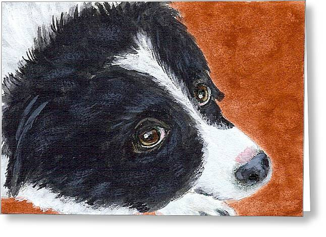 Soulful Eyes Greeting Card