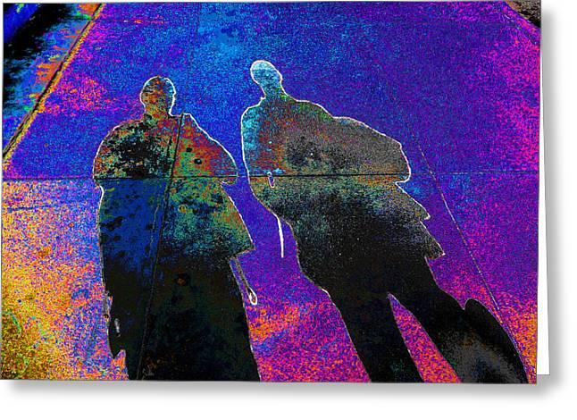 souls of 2 Veterans walking on Broadway - Glendale that is v3 Greeting Card
