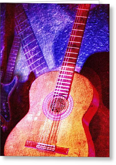 Greeting Card featuring the photograph Sound Bites Niche Art Guitars by Bob Coates
