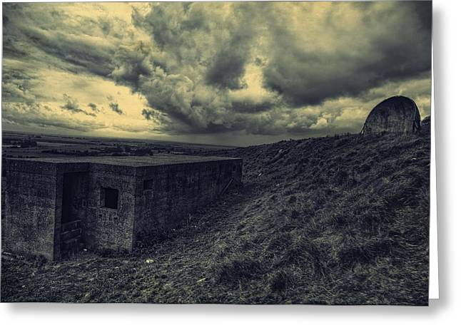 Sound Mirrors On The South Coast Greeting Card by Lee-Anne Rafferty-Evans