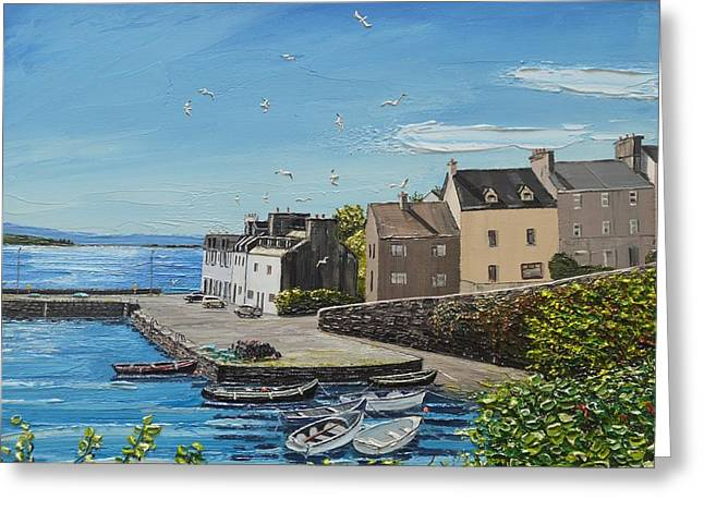 Sound Of Seagulls Roundstone Connemara Ireland Greeting Card