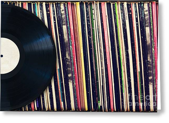 Sound Of Vinyl Greeting Card