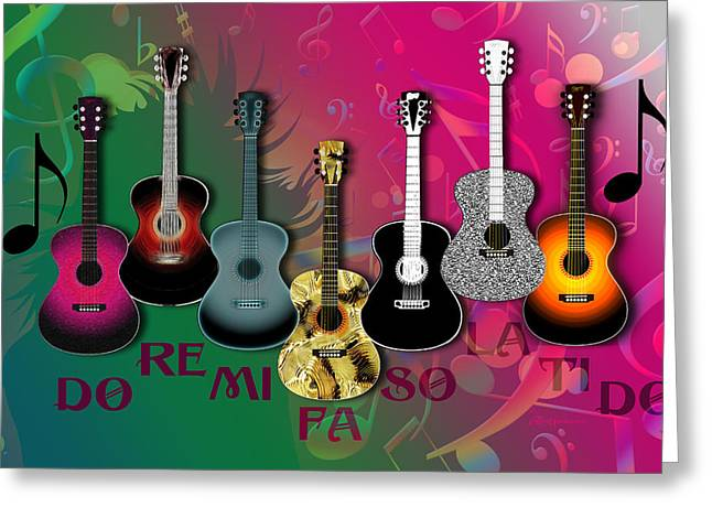 Sounds Of Music - Featured In Newbies Group Greeting Card by EricaMaxine  Price