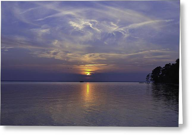 Soundside Sunset Greeting Card