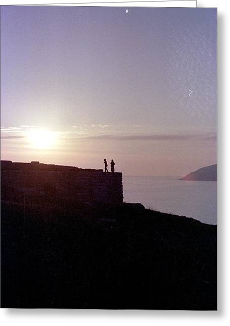 Sounion Greece Greeting Card by Mike McCool