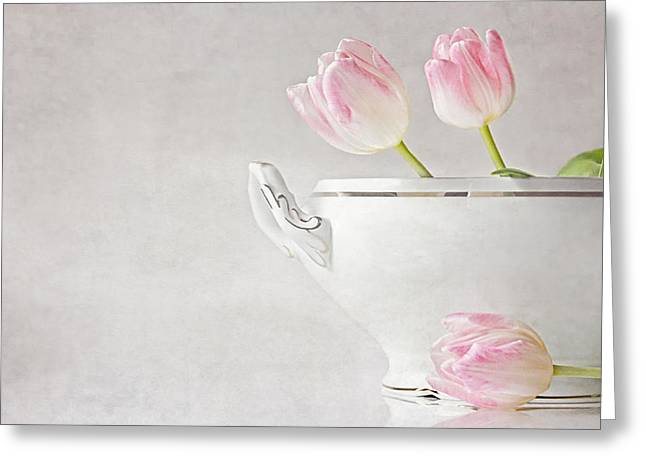 Soup Of Tulips Greeting Card by Claudia Moeckel