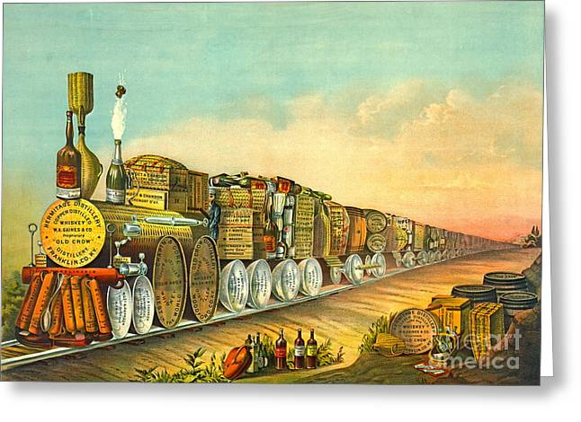 Sour Mash Express 1877 Greeting Card by Padre Art