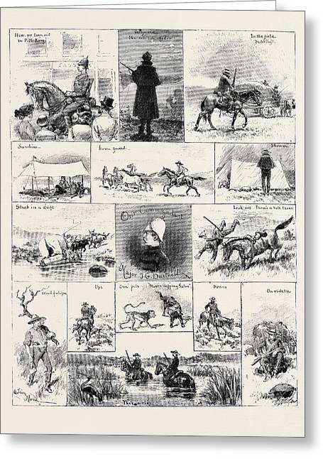 South Africa Life In The Natal Mounted Police Greeting Card