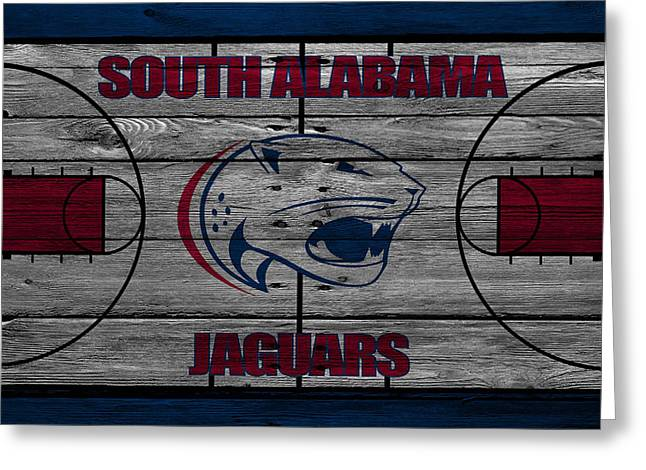 South Alabama Jaguars Greeting Card by Joe Hamilton