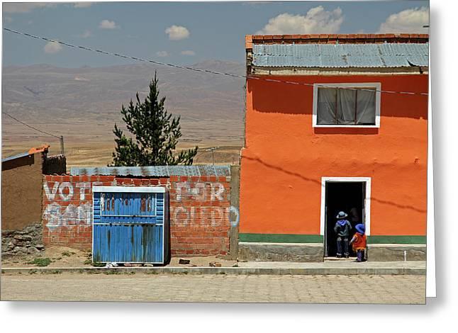 South America, Bolivia, Calamarca Greeting Card by Kymri Wilt