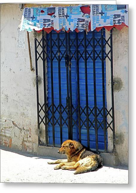 South America, Bolivia, La Paz Greeting Card by Kymri Wilt
