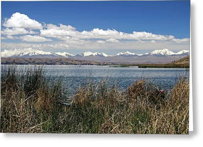 South America, Bolivia, Lake Titicaca Greeting Card